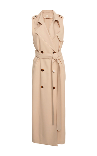 Medium khaite neutral donna trench wrap dress