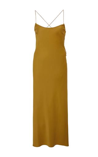 Medium khaite gold margot slip dress