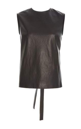Medium rosetta getty black leather shell top