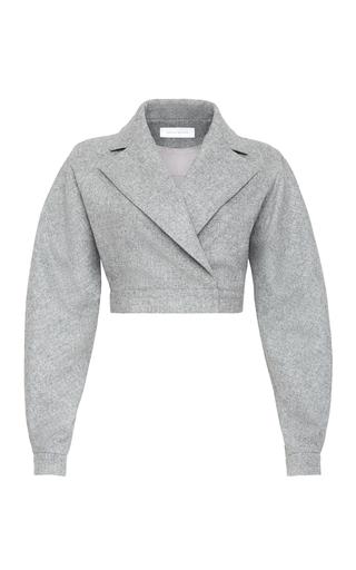 Medium marina moscone grey gladiator cropped jacket