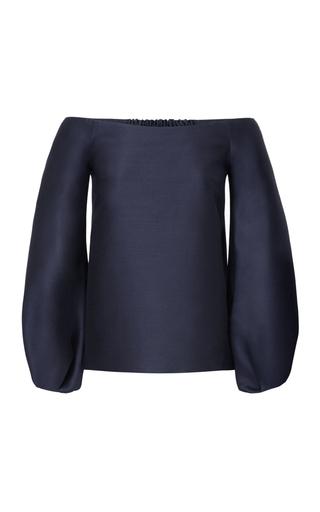 Medium marina moscone navy off the shoulder blouse 3