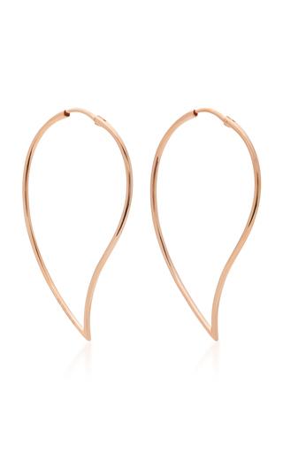 Medium mattioli gold narrow vertigo 18k rose gold earrings
