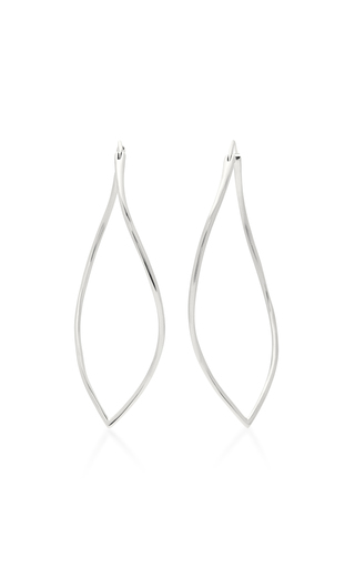 Medium mattioli silver navettes 18k gold earrings