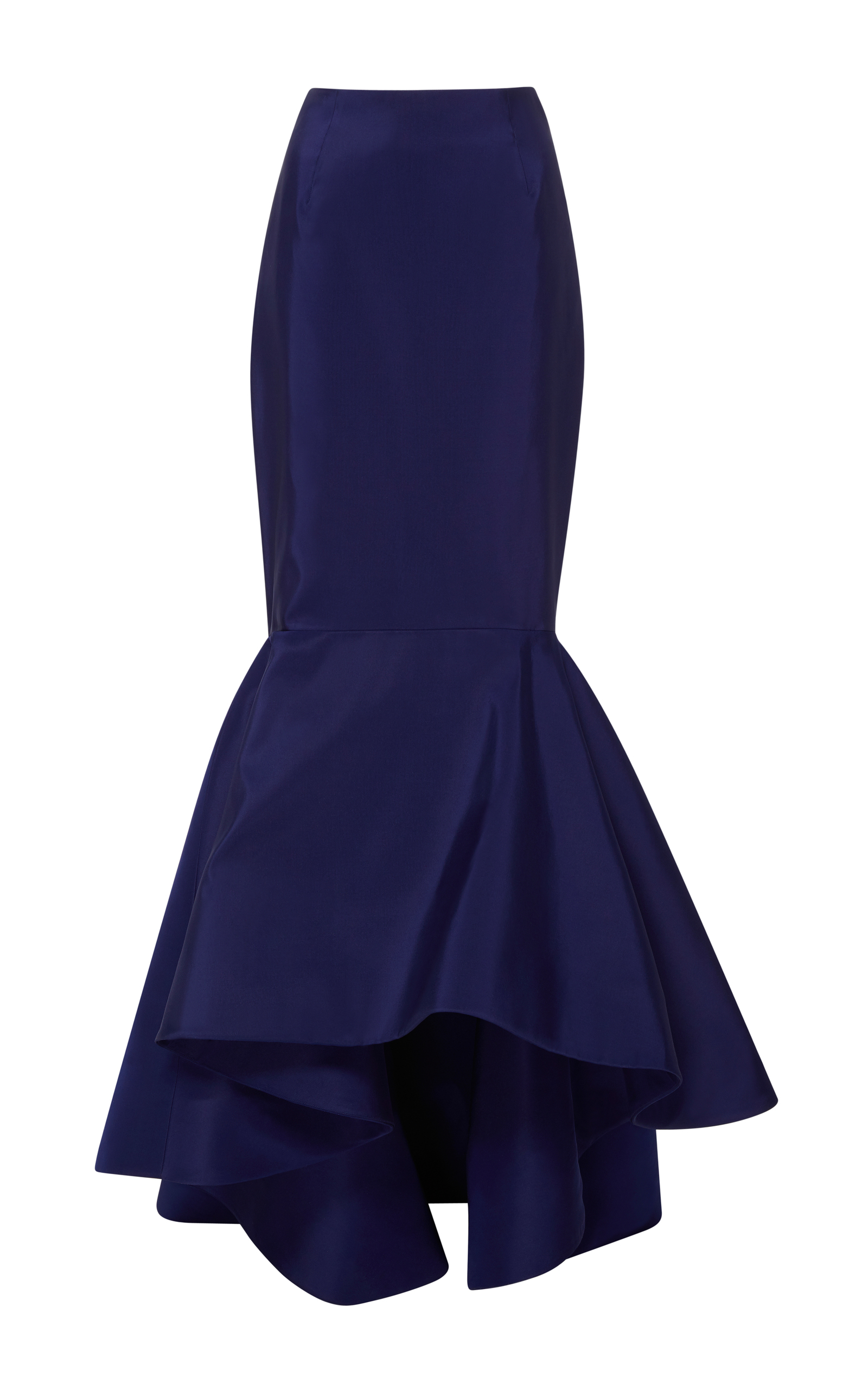 ELIZABETH KENNEDY HIGH-RISE SILK-BLEND FAILLE MERMAID SKIRT