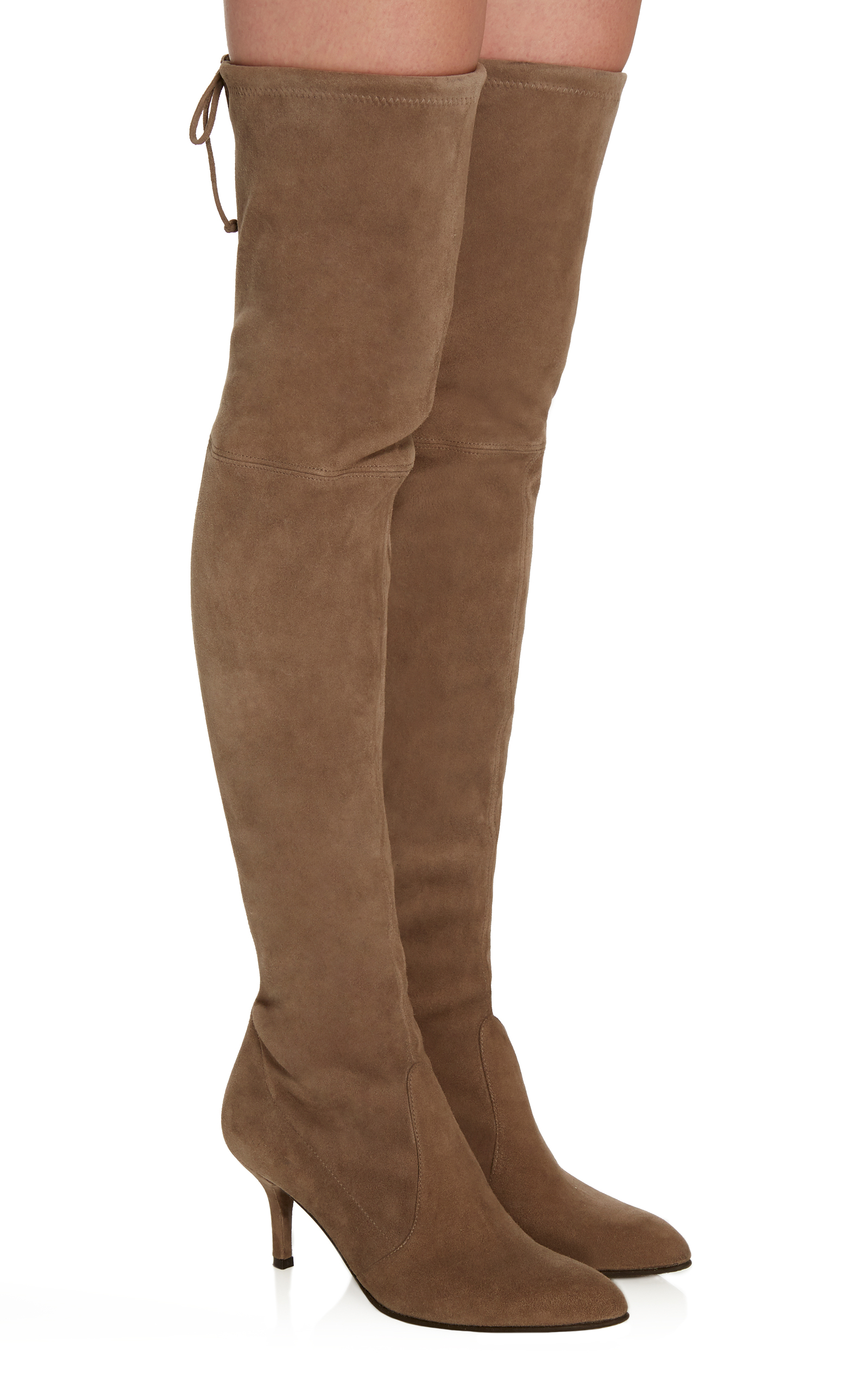 78930bc59dd Stuart WeitzmanTiemodel Over-the-Knee Suede Boots. CLOSE. Loading