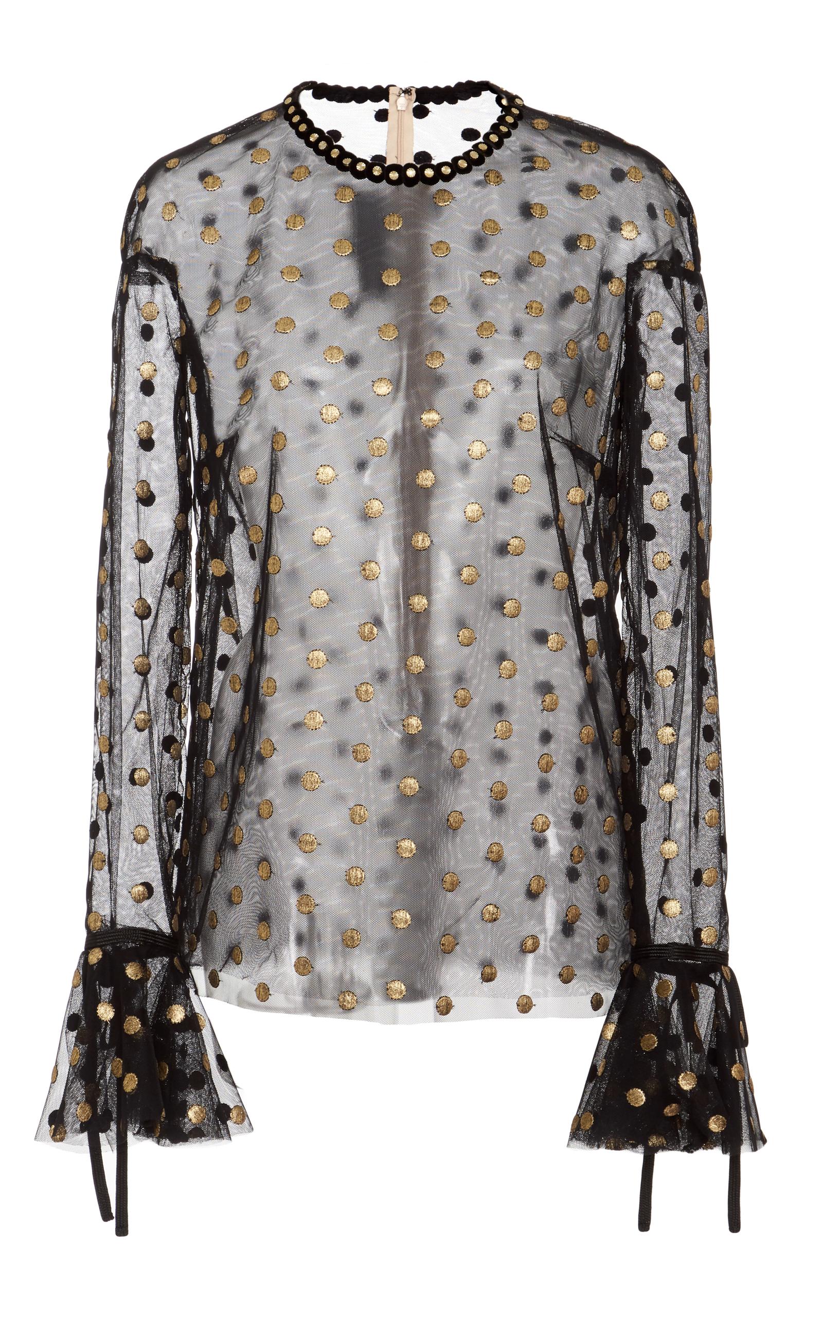 86594c8f23e6e5 Long Sleeve Sheer Blouse by Monique Lhuillier | Moda Operandi