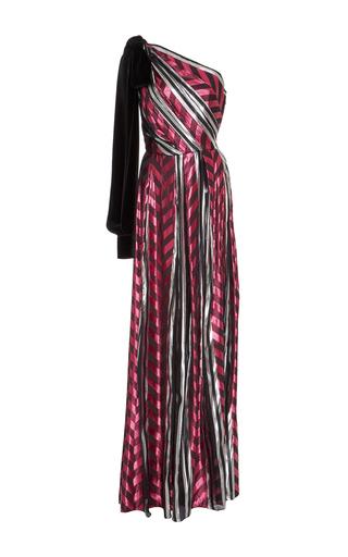 Medium monique lhuillier multi one shoulder gown