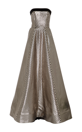 Medium monique lhuillier multi strapless ball gown