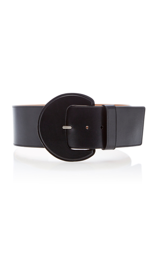 Medium michael kors black extra large leather belt 2