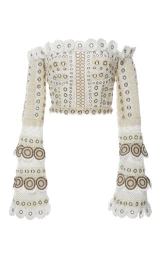 Medium jonathan simkhai neutral gladiator embellished bustier top