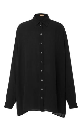 Medium michael kors black oversized silk georgette shirt