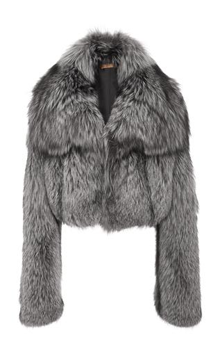 Medium michael kors grey silver fox fur shrug