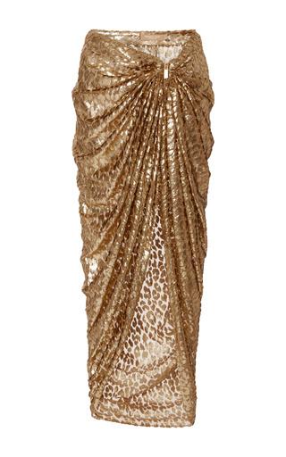 Medium michael kors gold metallic sarong skirt