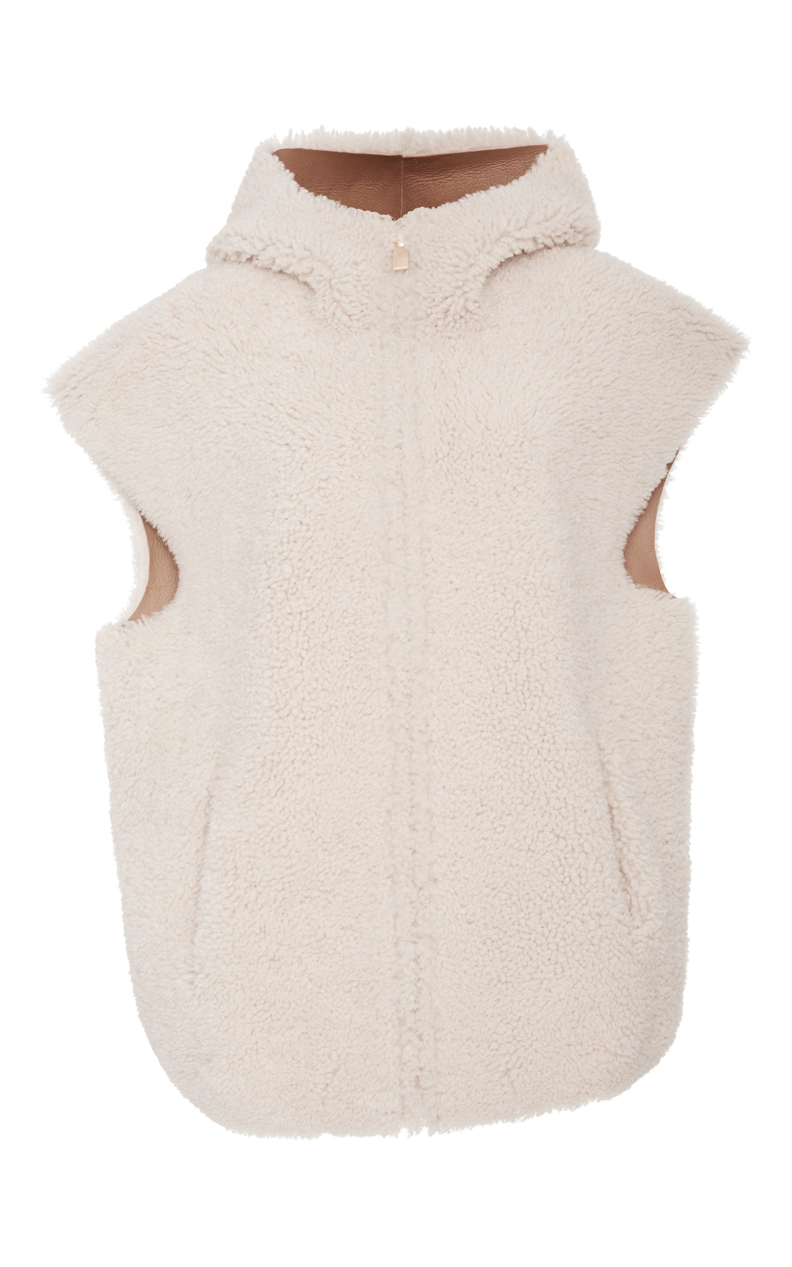 149c12e410d Michael Kors CollectionLamb Shearling Hooded Vest. CLOSE. Loading