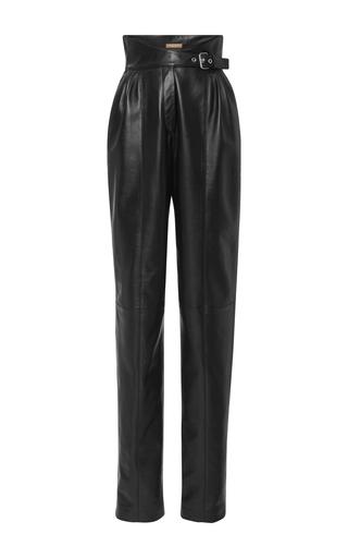 Medium michael kors black pleated leather pant