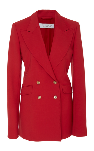 Medium gabriela hearst red angela double breasted blazer 2
