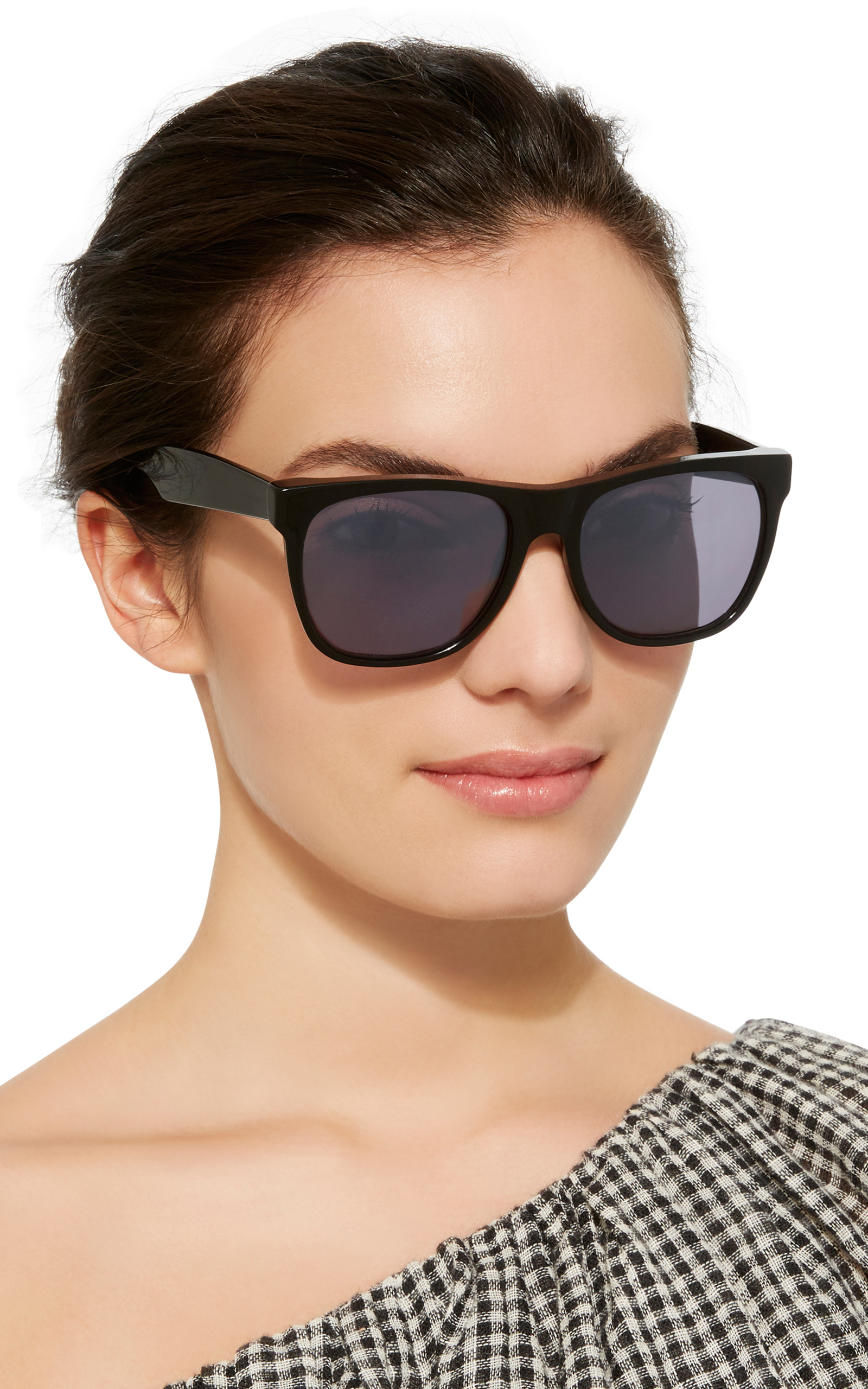 Classic black acetate sunglasses Retro Superfuture d725k