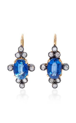 Medium montse esteve blue 18k gold kyanite and diamond earrings 3