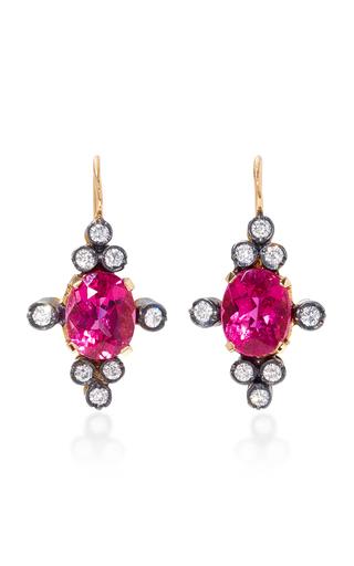 Medium montse esteve pink 18k gold pink spinel and diamond earrings