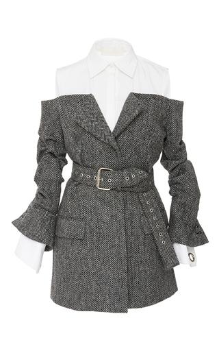 Medium monse grey belted herringbone jacket