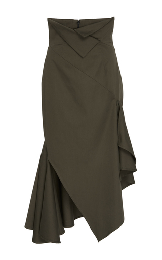 Medium monse green cotton twill skirt