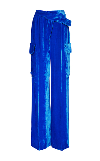 Medium monse blue velvet pant