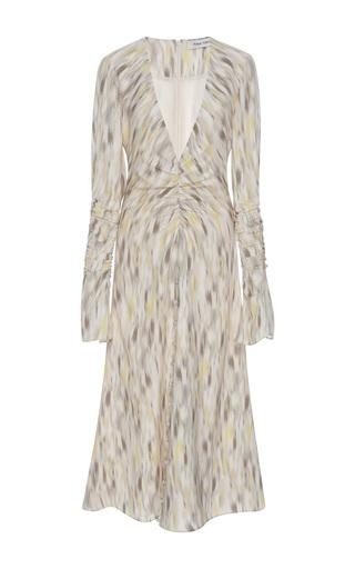 Medium prabal gurung multi long sleeve ruched silk dress
