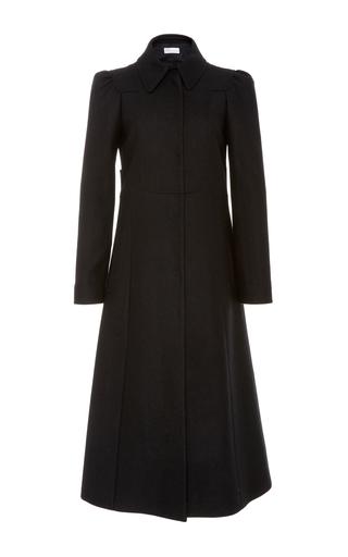 Red valentino black pleated coat
