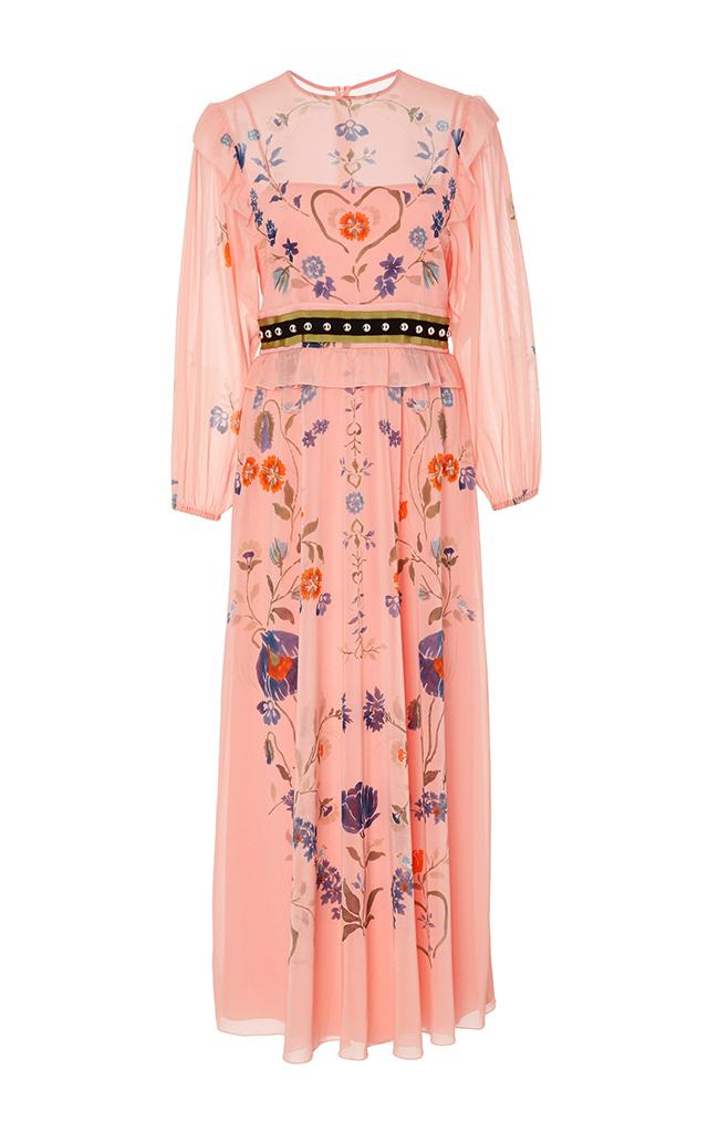 ... Floral Printed Silk Midi Dress. CLOSE. Loading