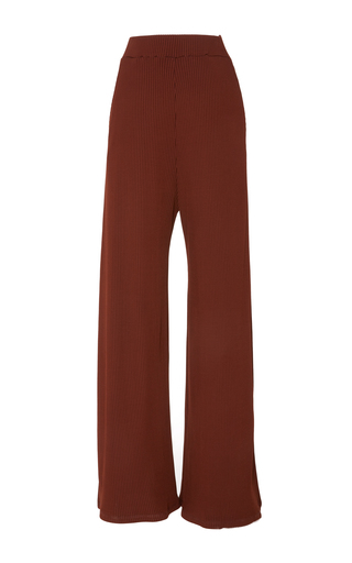 Medium beaufille red piazza ribbed knit pant