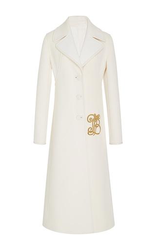 Medium tory burch white thomas textured double weave coat