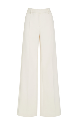 Medium tory burch white thomas textured double weave trouser