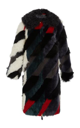 Medium tory burch multi morgan shearling coat