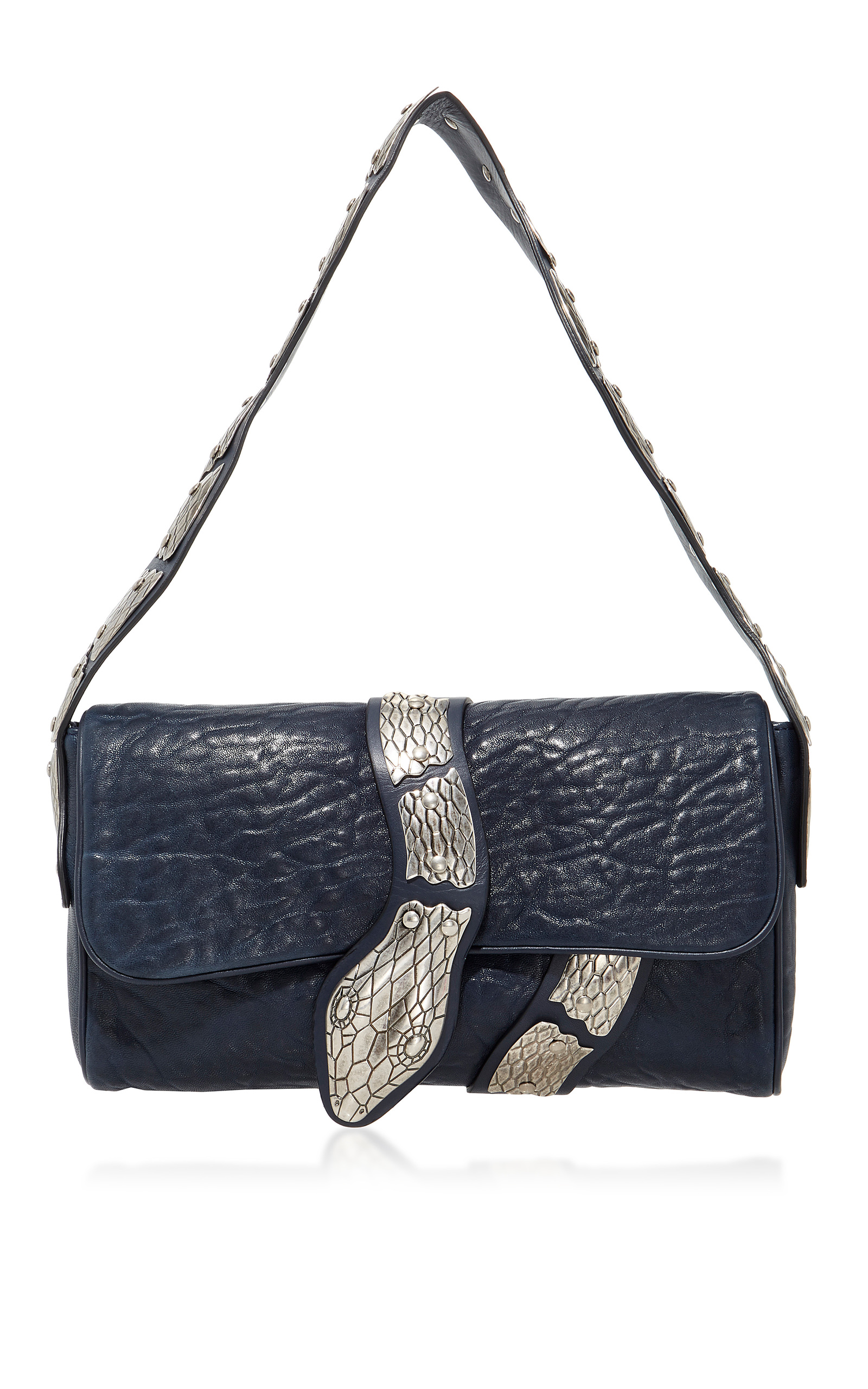 c11d9f931db01e Leather Shoulder Bag with Snake by Red Valentino | Moda Operandi