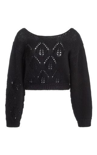 Medium tome black cropped alpaca sweater