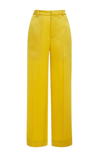 Medium tome yellow satin cady tailored pants