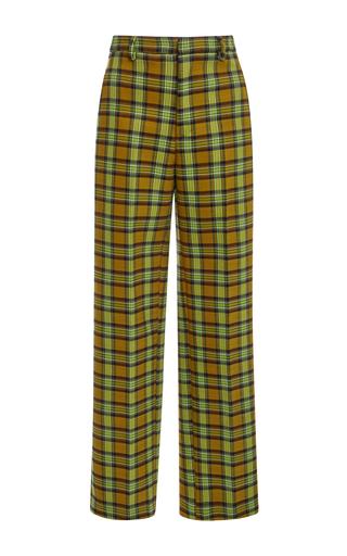 Medium tome plaid double face tartan tailored pants
