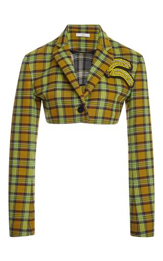 Medium tome plaid mini cropped jacket