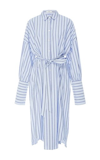 Medium tibi stripe pinstripe shirt dress