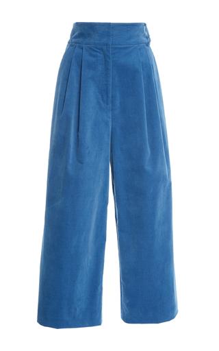 Medium tibi blue stella wide leg pant
