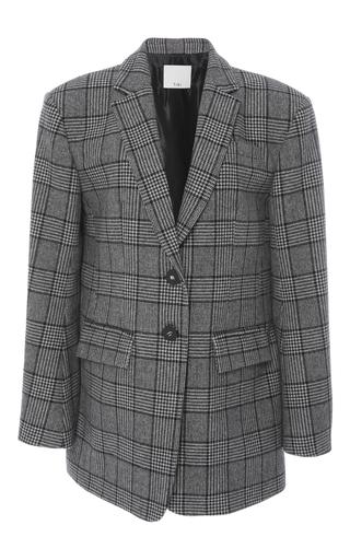 Medium tibi plaid aldridge tweed oversized blazer