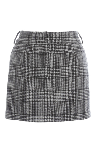 Medium tibi plaid plaid mini skirt