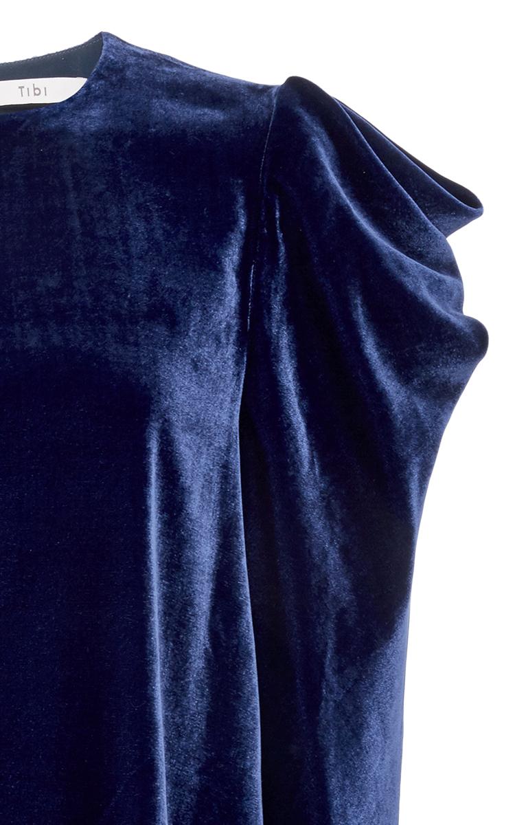 d09850a6b8d8b Velvet Draped Sleeve Top by Tibi
