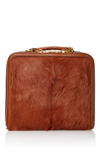 Medium tory burch brown arthur fur briefcase