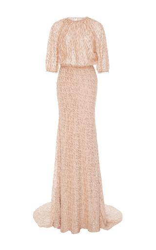 Medium lela rose pink blouson top gown