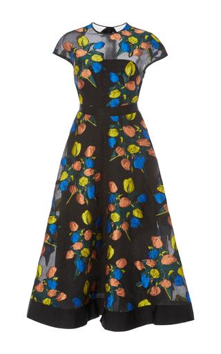 Tulle Inset Full Skirt Dress By Lela Rose