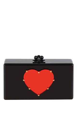 Medium edie parker black jean studded heart clutch