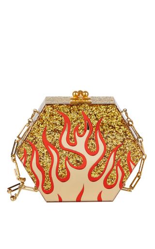 Medium edie parker gold macy flames clutch