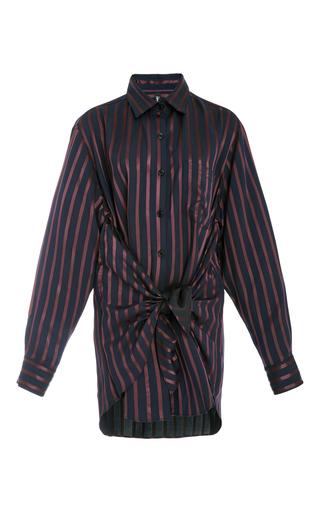 Medium adam selman stripe satin striped tie front shirt