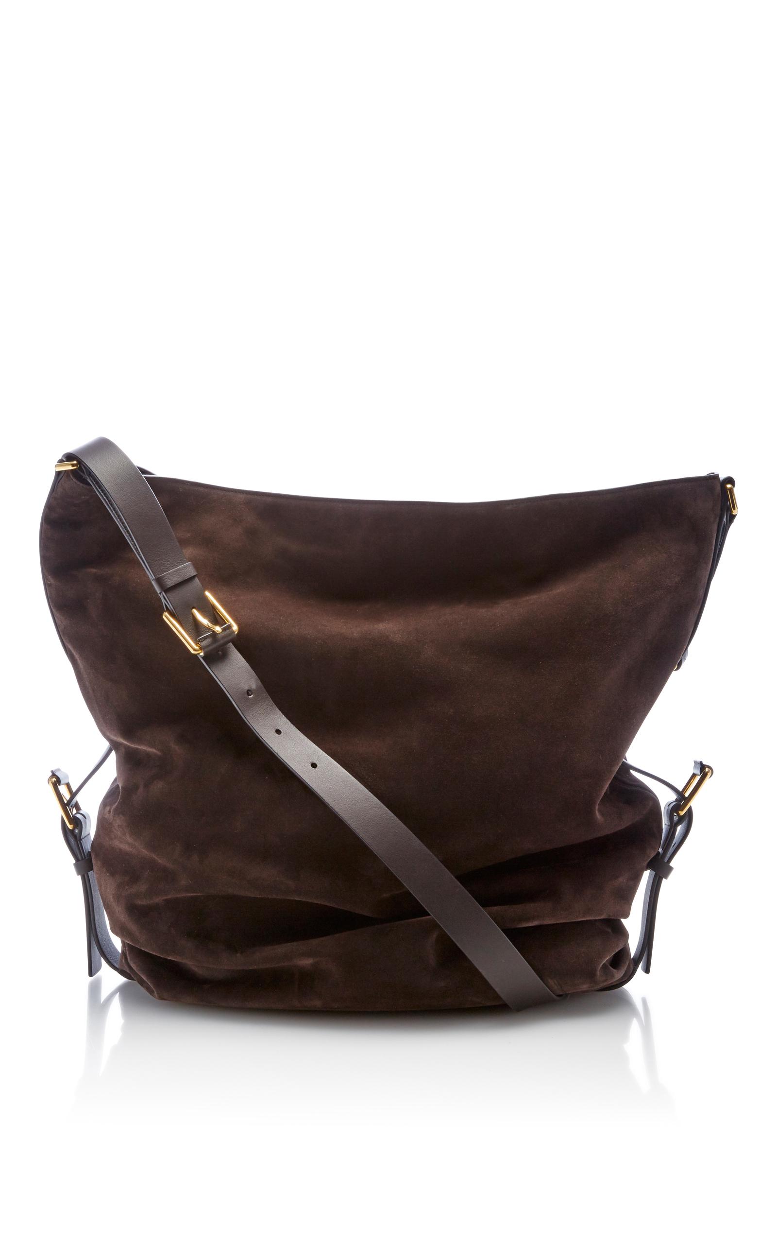 93522154ca45 Michael Kors CollectionLarge Suede Naomi Shoulder Bag. CLOSE. Loading